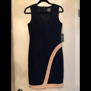 Vince Camuto V-Neck Sheath Dress Sz 8 NWT